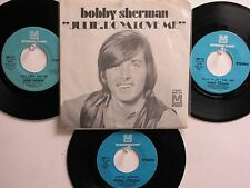 LOT OF 4 ' BOBBY SHERMAN ' HIT 45's+1PS[Julie, Do Ya Love Me] THE 60's&70's!