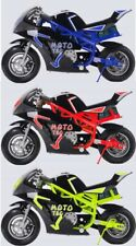 MotoTec 36v 500w Electric Pocket Bike Gt Blue, Free Shipping: 48 States