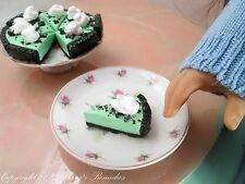 Miniature Doll Food for American Girl and Our Generation Dolls Cream de Mint Pie