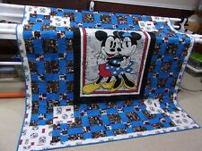 """HANDMADE    MICKEY & MINNIE MOUSE QUILT   67"""" x 76"""""""