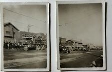 Rare Original Ww2 Photos Of Released Chinese Pow'S Being Transported By Usa Mp'S
