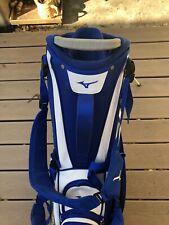New listing 2019 Mizuno Golf 14 Way Pro Stand / Carry Bag w/ Rain Hood, Staff Blue