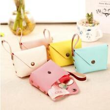 Chic Design Mini Cute PU Candy Color Coin Key Storage Case Purse Pouch Bag JJ