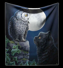 Blanket Cat & Owl - Purrfect Wisdom by Lisa Parker - Fantasy Sofa Blanket