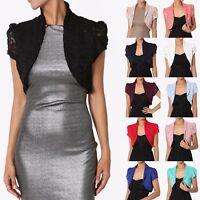 TheMogan Occasion Lace Long,Short Sleeve Bolero Layering Crop Dress Shawl Jacket