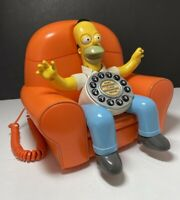 Homer Simpson Animated Talking Phone Telephone The Simpsons 2004 Clean Works VGC