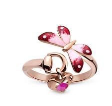 Anneau gucci flora ybc391011002 Butterfly Ruby Or Rose Taille N 13 nouvelles garantie