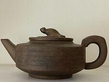 300cc Yixing Zisha Yellow Clay Teapot with Bat lid