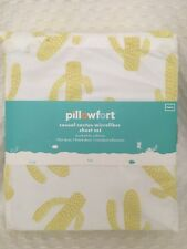 New Pillowfort Casual Cactus Microfiber Twin Sheet 3 pc Sheet Set Yellow bedding