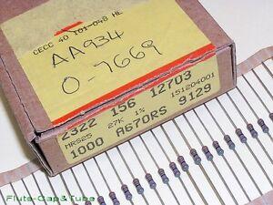 10pcs PHILIPS 27K / 27KΩ 0.6W 1% 350V 50ppm Professional Film Resistors.NOS