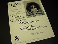 Don Was Genius Among Geniuses 1997 Promo Display Ad mint condition