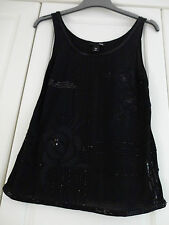 BEAUTIFUL LADIES H and M EMBELLISHED CAMISOLE TOP SIZE XS