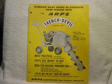 ARPS TRENCH-DEVIL JR  c 1958 sales brochure