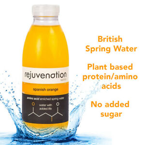 Rejuvenation Water Spanish Orange Plant-based Protein Water 12x500ml
