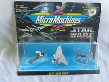 Star Wars Vintage Mico Machines-Speeder Bike-Imp Shuttle-Tie Star Fighter -1995
