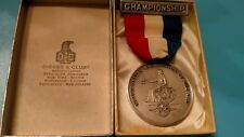 Sports medal vintage 1949 weight lifting sterling silver NY AAU Dieges Clust