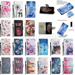 Case for iPhone 13 12 11 Pro XR XS Max 8 7 SE2 Pattern Leather Wallet Flip Cover