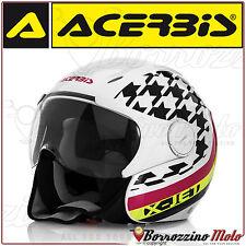 Acerbis Casco X-jet On Bike Bianco/nero M (o1q)