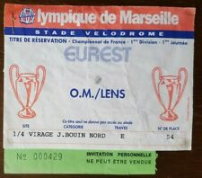 Ticket OM Marseille - RC LENS 1993/94 Billet FOOTBALL FRANCE LIGUE 1