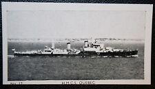 HMCS QUEBEC  EX Uganda     Royal Canadian Navy Cruiser      Vintage Photo Card