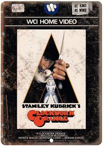 "Clockwork Orange Stanley Kubrick VHS Cover 10"" x 7"" Reproduction Metal Sign"