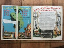 Tour Europe in your own Car. Motor Map of Europe. New York, 1927.