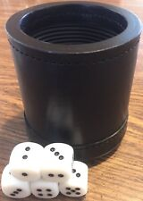 "LEATHER DICE CUP BOX PROFESSIONAL QUALITY RIBBED Inc. 5 Round Corner 3/4"" Die"