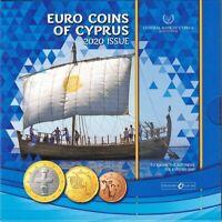 Coffret BU Chypre 2020 - 8 Pièces 1 centimes à 2 Euros en Coffret Officiel