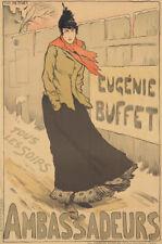 Original Vintage Poster Metivet Eugenie Buffet Ambassadeurs Music 1893