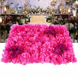 Neu 12x Künstliche Blumenwand Rosenwand DIY Hochzeit Straße Hintergrund 40x60cm