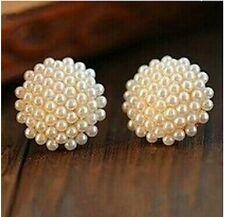 #1211 New Fashion Vintage Korean Full Pearl Peach Heart Earrings