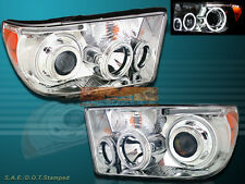 07-12 TOYOTA TUNDRA / 08-11 SEQUOIA PROJECTOR HEADLIGHTS CCFL HALO CLEAR STYLE