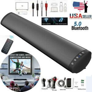 Bluetooth 5.0 Wireless Speaker TV PC Soundbar Subwoofer Home Theater Sound Bar