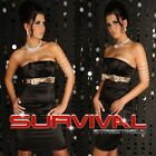 NEW WOMENS STRAPLESS COCKTAIL FORMAL EVENING DRESS SIZE 8,10,12 SEXY BLACK WHITE