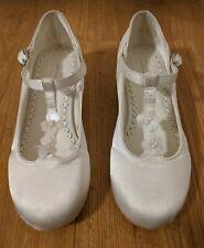 John Lewis Chicas Blanco/Crema Marfil Dama De Honor Boda Fiesta Zapatos Niño Reino Unido 12