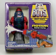 Vintage Arco Go Bots Mighty Robots Rogun Water Pistol Brand New Box