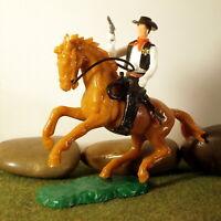 Original Hausser Elastolin 5,6cm Steckfigur beweglich US.Marshal/Sheriff Reiter