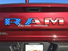Dodge Ram 1500 Rebel Tailgate >>> USA Flag <<< Decals