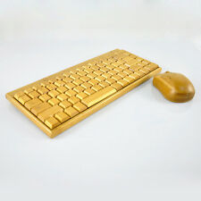 Special Bamboo Wooden 2.4G Wireless Keyboard Mouse Laser Lettering Set For PC