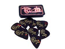 D'Andrea Guitar Picks  Celluloid  Pick Tin  12 Picks  Shell  Extra Heavy