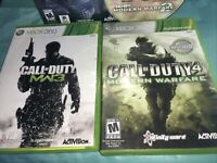 Call of Duty MW2/Ghosts/MW3/4MW Microsoft Xbox360 Some Complete Some No Manuals