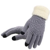 Women Winter Touch Screen Gloves Warm Kint Elegant Full Finger Fleece Gloves