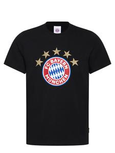 Original FCB FC Bayern München T-Shirt Logo 5 Sterne schwarz (Artikel-Nr. 28338)