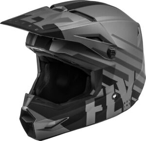 Fly Racing Youth Kinetic Thrive Helmet Matte Grey size Large