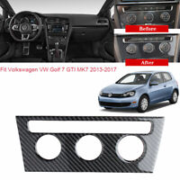 For VW Golf 7 GTI MK7 2013-17 Vehicle Air Condition Panel A Carbon Fiber Sticker