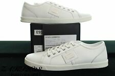 BNWB DOLCE & GABBANA LUXE WHITE TRAINER LEATHER CLASSIC SNEAKER SIZE UK10 / EU44