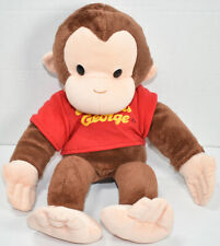 Applause CURIOUS GEORGE BROWN MONKEY Red Shirt HAND PUPPET STUFFED PLUSH Toy