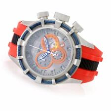 """INVICTA MENS RESERVE 50MM BOLT """"PUPPY EDITION"""" RED RUBBER BAND WATCH 10966"""