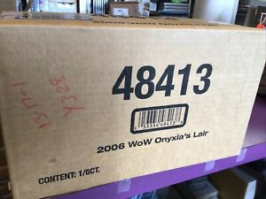 2006 ONYXIA'S LAIR SEALED CASE OF 6 RAID DECKS WORLD OF WARCRAFT TCG WOW