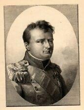 Antique Art print Portrait Napoleon Bonapart photo-etching after Isabey nice art